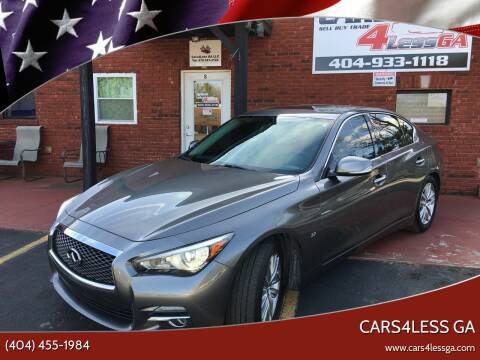 2015 Infiniti Q50 for sale at Cars4Less GA in Alpharetta GA