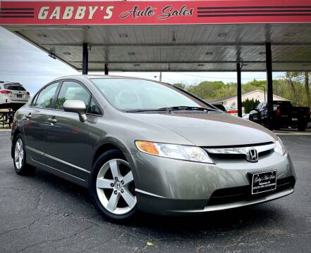 2008 Honda Civic for sale at GABBY'S AUTO SALES in Valparaiso IN