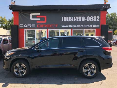 2017 Toyota Highlander for sale at Cars Direct in Ontario CA