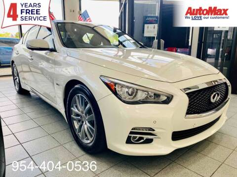 2017 Infiniti Q50 for sale at Auto Max in Hollywood FL
