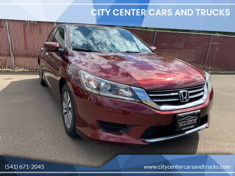 2013 Honda Accord for sale at City Center Cars and Trucks in Roseburg OR