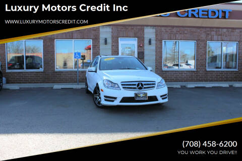 2013 Mercedes-Benz C-Class for sale at Luxury Motors Credit Inc in Bridgeview IL