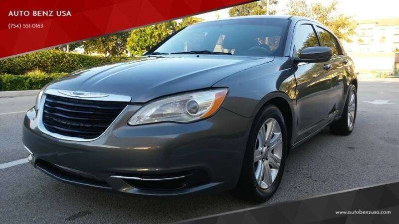 2013 Chrysler 200 for sale at AUTO BENZ USA in Fort Lauderdale FL