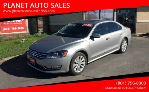 2013 Volkswagen Passat for sale at PLANET AUTO SALES in Lindon UT
