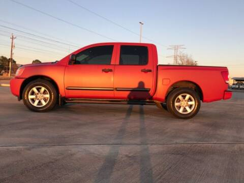 2014 Nissan Titan for sale at ALL AMERICAN FINANCE AND AUTO in Houston TX