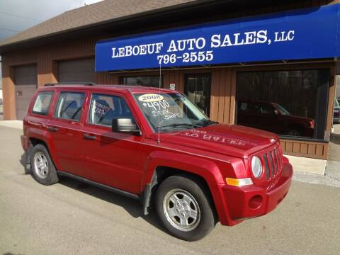 2008 Jeep Patriot for sale at LeBoeuf Auto Sales in Waterford PA