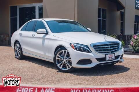 2015 Mercedes-Benz C-Class for sale at Mcandrew Motors in Arlington TX