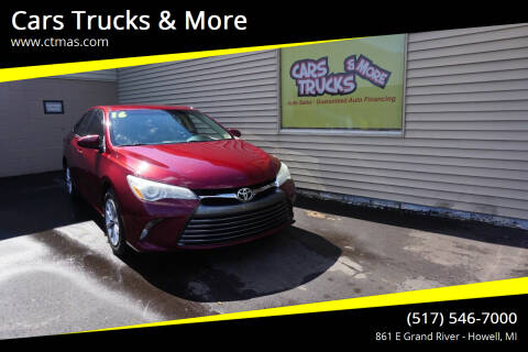 2016 Toyota Camry for sale at Cars Trucks & More in Howell MI