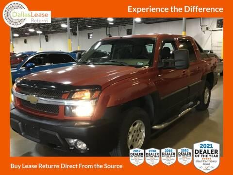 2003 Chevrolet Avalanche for sale at Dallas Auto Finance in Dallas TX