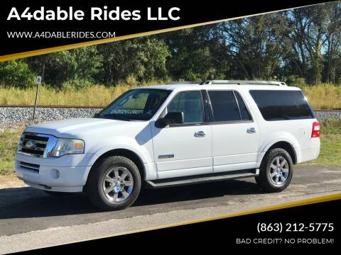 2008 Ford Expedition EL for sale at A4dable Rides LLC in Haines City FL