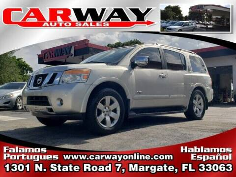 2008 Nissan Armada for sale at CARWAY Auto Sales in Margate FL