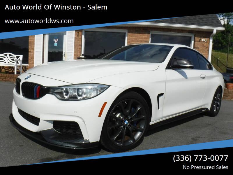2016 BMW 4 Series for sale at Auto World Of Winston - Salem in Winston Salem NC