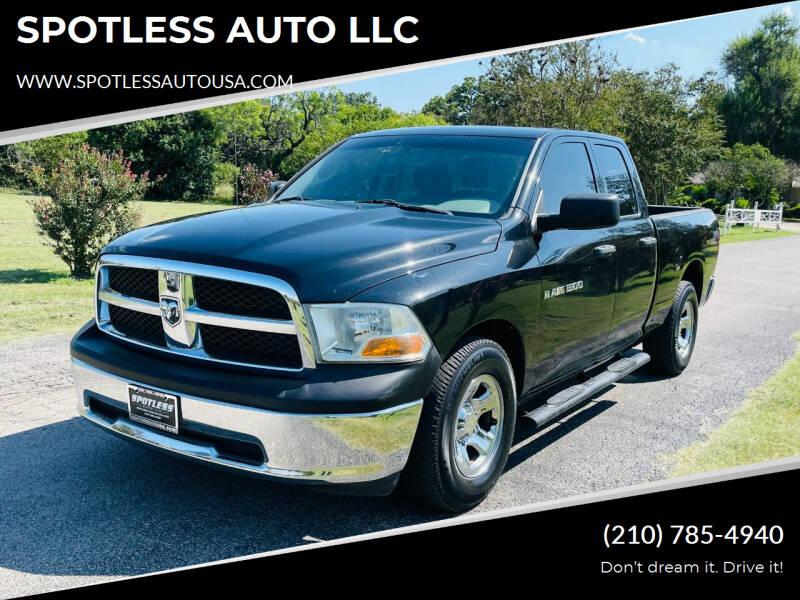 2011 RAM Ram Pickup 1500 for sale at SPOTLESS AUTO LLC in San Antonio TX