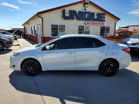 "2017 Toyota Corolla for sale at UNIQUE AUTOMOTIVE ""BE UNIQUE"" in Garden City KS"