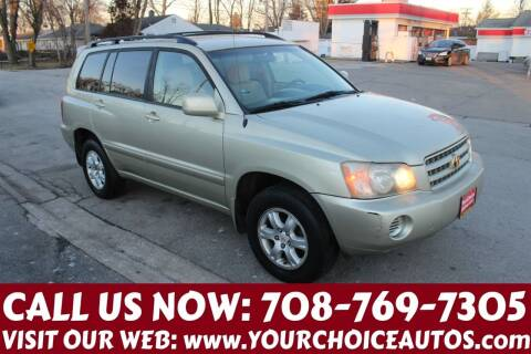 2003 Toyota Highlander for sale at Your Choice Autos in Posen IL