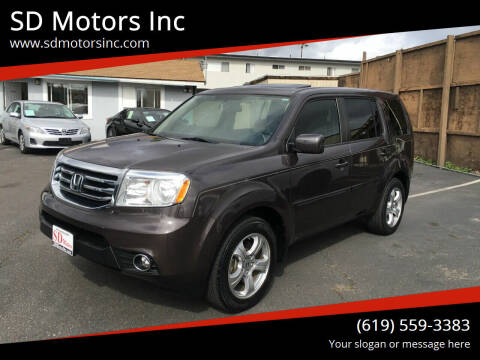 2015 Honda Pilot for sale at SD Motors Inc in La Mesa CA