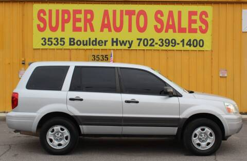 2004 Honda Pilot for sale at Super Auto Sales in Las Vegas NV
