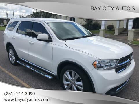 2012 Dodge Durango for sale at Bay City Auto's in Mobile AL