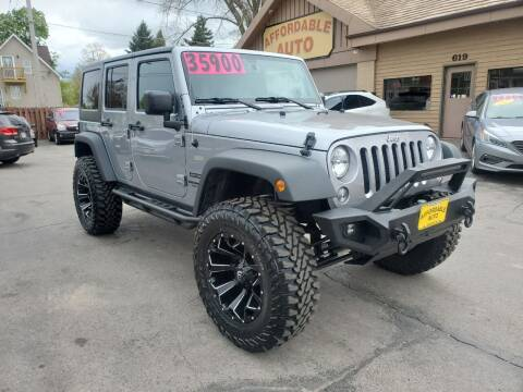 2016 Jeep Wrangler Unlimited for sale at AFFORDABLE AUTO, LLC in Green Bay WI