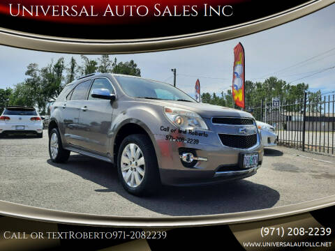 2010 Chevrolet Equinox for sale at Universal Auto Sales Inc in Salem OR