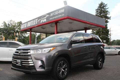 2018 Toyota Highlander for sale at Deals N Wheels 306 in Burlington NJ