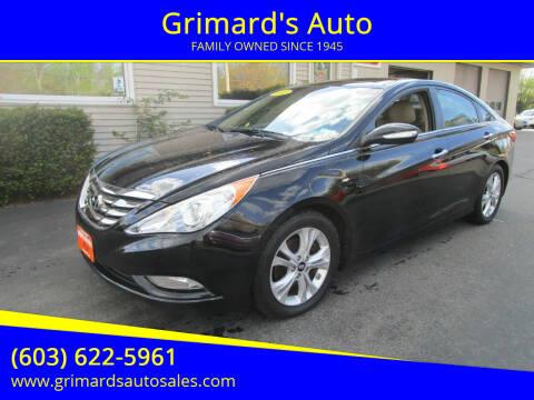 2012 Hyundai Sonata for sale at Grimard's Auto in Hooksett NH
