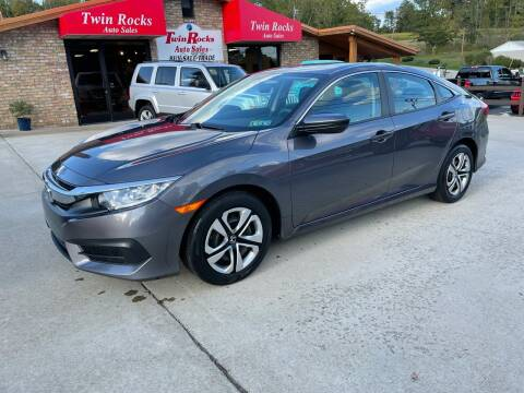 2018 Honda Civic for sale at Twin Rocks Auto Sales LLC in Uniontown PA