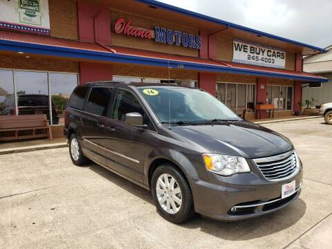 2016 Chrysler Town and Country for sale at Ohana Motors in Lihue HI