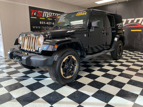 2014 Jeep Wrangler Unlimited for sale at T & S Motors in Ardmore TN