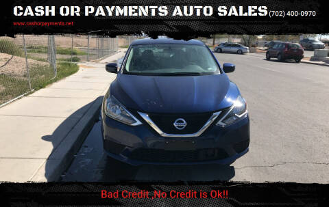 2019 Nissan Sentra for sale at CASH OR PAYMENTS AUTO SALES in Las Vegas NV