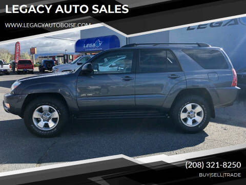 2003 Toyota 4Runner for sale at LEGACY AUTO SALES in Boise ID