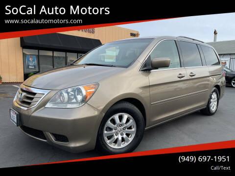 2010 Honda Odyssey for sale at SoCal Auto Motors in Costa Mesa CA