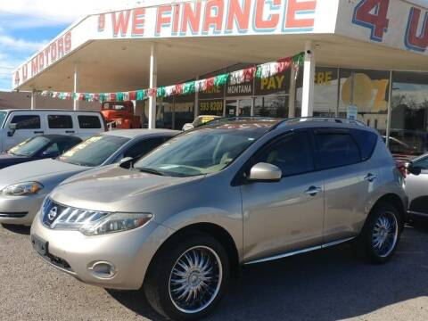 2010 Nissan Murano for sale at 4 U MOTORS in El Paso TX