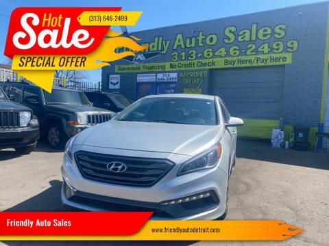 2017 Hyundai Sonata for sale at Friendly Auto Sales in Detroit MI