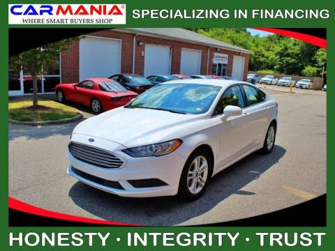 2018 Ford Fusion for sale at CARMANIA LLC in Chesapeake VA