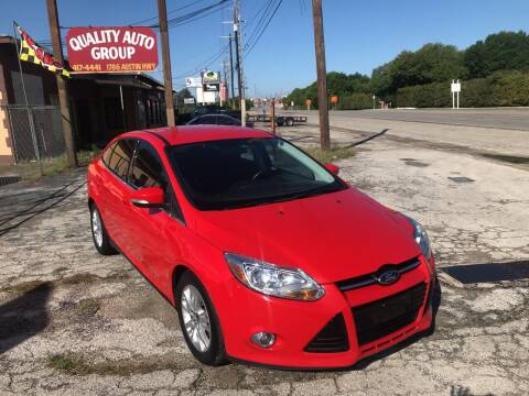 2012 Ford Focus for sale at Quality Auto Group in San Antonio TX