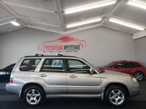 2006 Subaru Forester for sale at Premium Motors in Villa Park IL
