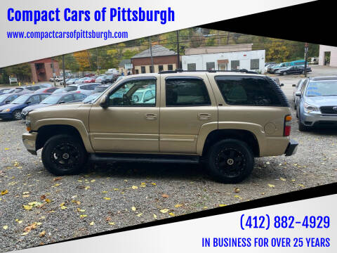 2006 Chevrolet Tahoe for sale at Compact Cars of Pittsburgh in Pittsburgh PA