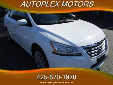 2015 Nissan Sentra for sale at Autoplex Motors in Lynnwood WA