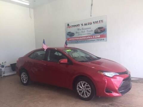 2017 Toyota Corolla for sale at Antonio's Auto Sales in South Houston TX