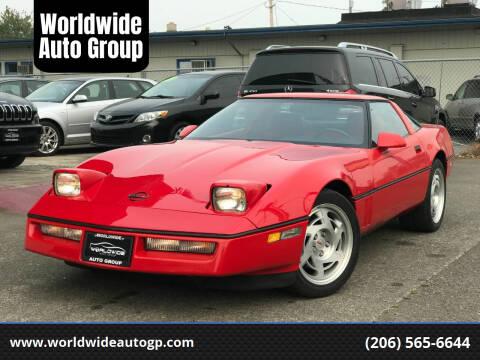 1990 Chevrolet Corvette for sale at Worldwide Auto Group in Auburn WA