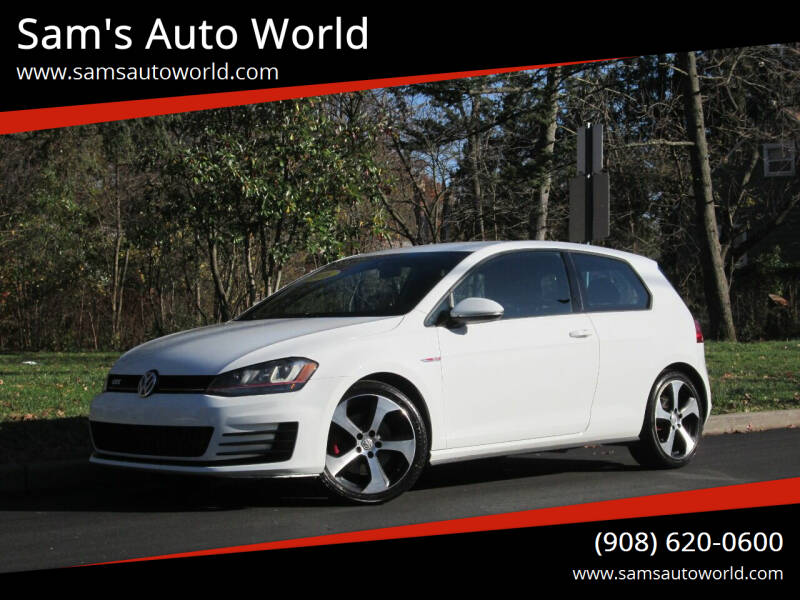 2016 Volkswagen Golf GTI for sale at Sam's Auto World in Roselle NJ