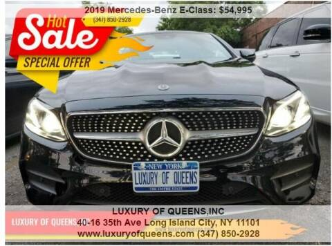 2019 Mercedes-Benz E-Class for sale at LUXURY OF QUEENS,INC in Long Island City NY