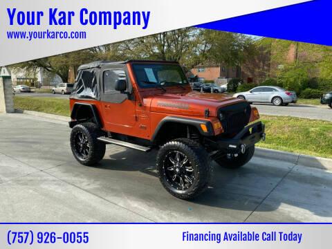 2006 Jeep Wrangler for sale at Your Kar Company in Norfolk VA