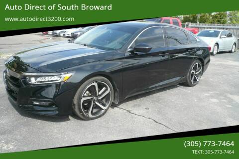 2018 Honda Accord for sale at Auto Direct of South Broward in Miramar FL