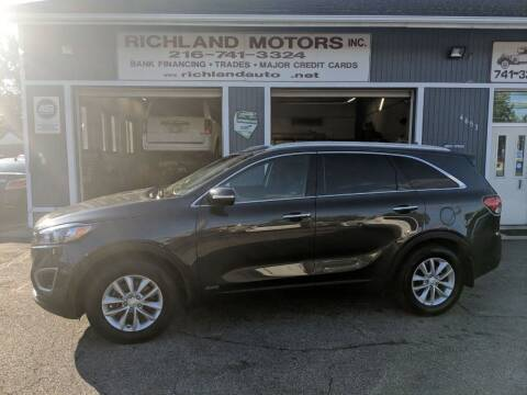 2018 Kia Sorento for sale at Richland Motors in Cleveland OH
