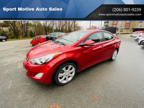 2013 Hyundai Elantra for sale at Sport Motive Auto Sales in Seattle WA