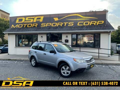 2012 Subaru Forester for sale at DSA Motor Sports Corp in Commack NY