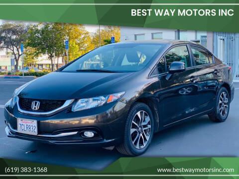 2013 Honda Civic for sale at BEST WAY MOTORS INC in San Diego CA