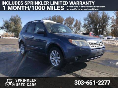 2012 Subaru Forester for sale at Sprinkler Used Cars in Longmont CO